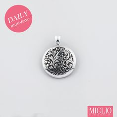 Daily #musthave product: Embellish your @migliojewellery #necklace w the EN1105- Arabesque burnished #silver #pendant