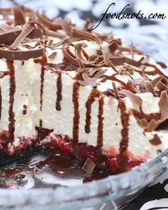 White Chocolate Mousse Cherry Pie | by Recipe Snob