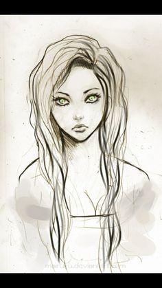 Drawing green eye s