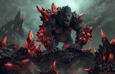 Art Prints by Brent Hollowell Monster Concept Art, Fantasy Monster, Monster Art, Alien Creatures, Magical Creatures, Fantasy Creatures, Creature Concept Art, Creature Design, Dark Fantasy Art