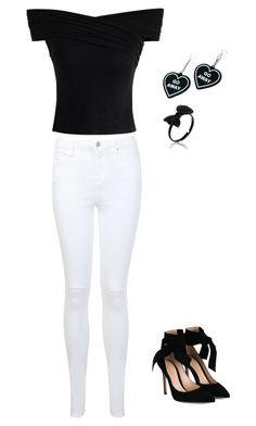 """""""l"""" by rahaf-alfar on Polyvore featuring Chicwish, Miss Selfridge, Gianvito Rossi and Witch Worldwide"""