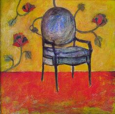 Chair for Gauguin, painting by Robert H. Ballard @ www.rhballard.com