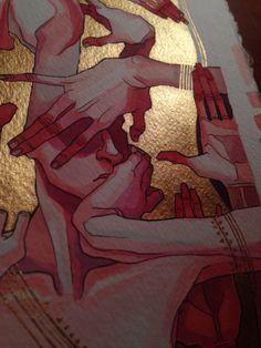 Shae Draws Things — gold is tacky and i Love It Shae zeichnet Dinge – Gold ist klebrig und ich liebe es – Art Inspo, Kunst Inspo, Inspiration Art, Art Sketches, Art Drawings, Bel Art, Art Et Design, Illustration Art, Illustrations