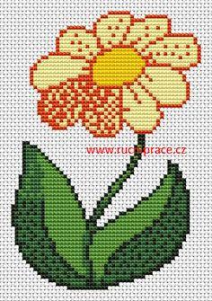 Flower, free cross stitch patterns and charts - www.free-cross-stitch.rucniprace.cz