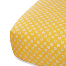 Oliver B White/Yellow Fitted Crib Sheet