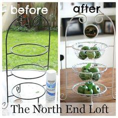 Great repurpose using chicken wire...Gail @ myrepurposedlife