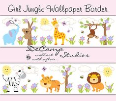 Baby Jungle, Zoo, and Woodland Animals Wallpaper Border