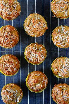 PAPAYA, BANANA & COCONUT MUFFINS. These fluffy and moist muffins are packed with flavor and goodness. Enjoy these eggless and butter-free muffins as snack, breakfast or even a healthy dessert.
