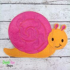 Snail Puzzle ITH Embroidery Design
