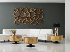 Wood Wall Decor, Modern Wall Decor, Living Room Modern, Living Room Decor, Decorative Wall Panels, Wood Panel Walls, Large Wall Art, Home Decor, Organic