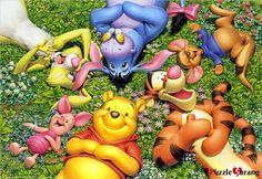 "Jigsaw Puzzles 1000 Pieces ""Pooh's Rest"" / Disney / Tenyo"