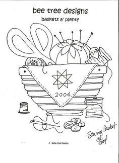 redwork baskets