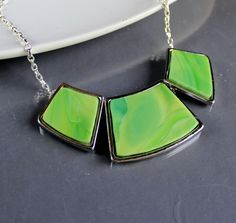 ooak Statement Necklace, - Stained Glass. Starting at $1 on Tophatter.com!