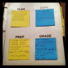 ndrummond:  This is such a simple idea I found online, but it is helping me SO MUCH with keeping organized this school year! I'm constantly making lists of what to do, this helps me. Papers have been piling up on my desk at school, I need to reorganize that this week. I may create another one of things to do at home….. Because it is SO HELPFUL.  This is smart and doesn't waste tons of paper!