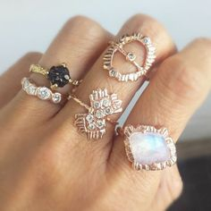 Joy Sangalang uses the lost wax method when creating each of her stunning talisman-inspired rings.