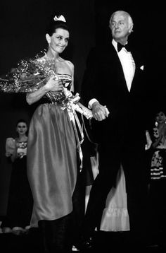 Audrey Hepburn and Hubert de Givenchy