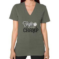 Fight Champ V-Neck (on woman)