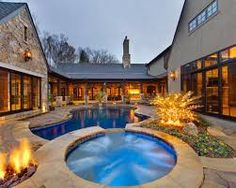 Image result for central courtyard house swimming pool