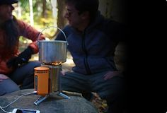 The BioLite Wood Burning CampStove™ combines the benefits of a backpacking stove and an off-grid power charger so you can cook a meal while charging your gadgets at a backcountry campsite.