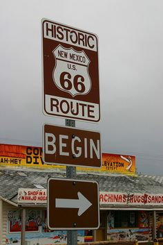 Route 66 Sign, Continental Divide, New Mexico | Flickr - Photo Sharing!