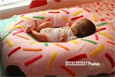Giant Donut Pillow - I think Zach would find this to be a nice place to hang out as he learns to sit.  So.. shall I make it look like a giant donut, or just a giant pillow?