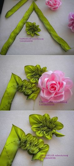 Wonderful Ribbon Embroidery Flowers by Hand Ideas. Enchanting Ribbon Embroidery Flowers by Hand Ideas. Embroidery Leaf, Silk Ribbon Embroidery, Embroidery Kits, Embroidery Designs, Embroidery Stitches, Embroidery Supplies, Embroidery Books, Ribbon Embroidery Tutorial, Pillow Embroidery