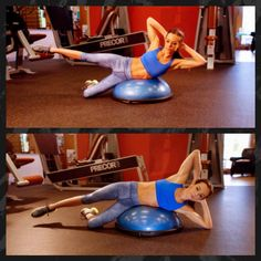 Exercise of the Week: Bosu Oblique Crunch with Hip Abduction #core #abs #coreworkout