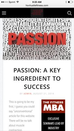 Passion: A Key Ingredient To Success - Why You Need Passion To Succeed In What You Do -  ➡️http://www.hovhustlefitness.com/business/passion-a-key-ingredient-to-success/⬅️ #health #fitness #weightloss #nutrition #diet #wellness #motivation #inspiration
