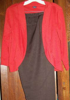 Rusty jacket, brown pants