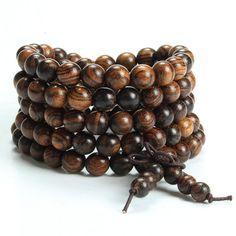 Tiger Sandalwood Mala Bracelet