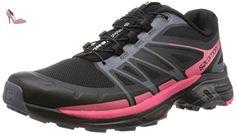 Salomon Wings Pro 2, Chaussures de Running Entrainement Femme, Noir (Black/Dark Cloud/Madder Pink), 41 1/3 EU - Chaussures salomon (*Partner-Link)