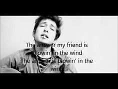 """Bob - ) -Blowin' in the wind-lyrics/ an American songwriter, singer, artist, and writer.On October Dylan was awarded the Nobel Prize in Literature for """"having created new poetic expressions within the great American song tradition"""". Folk Music, My Music, Kinds Of Music, Lyrics And Chords, Song Lyrics, Bob Dylan Lyrics, 8th Grade History, 2016 Songs, Prix Nobel"""