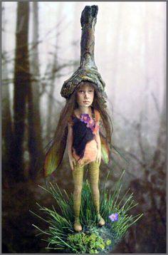 """Art doll. """"Marleneseite,"""" by German figurative art doll artist Tatjana Raum (""""chopoli"""")."""