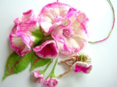 free  shipping   Felted Flower Hand Felted Wool by larisa71, $19.99