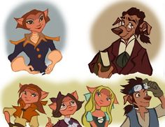 The children of Dr. Doppler and Captain Amelia from Treasure Planet