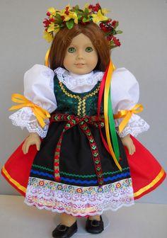 "Fits 18"" American Girl doll Czech kroj folk dress clothes H (COSTUME ONLY)"