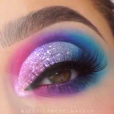 # Make-up # Augenmakeupideas # Make-up-Liebhaber - Makeup Tutorial Over 40 Makeup Eye Looks, Eye Makeup Art, Crazy Makeup, Eyeshadow Makeup, Crazy Eyeshadow, Makeup Tips, Eyeliner, Bold Eye Makeup, Makeup Artistry
