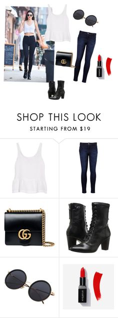 """Untitled #67"" by aniee92 ❤ liked on Polyvore featuring J Brand, Levi's, Gucci and Johnston & Murphy"
