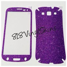 Purple Samsung Galaxy s3 Sparkle Glitter Skin · 818 Vinyl Skins · Online Store Powered by Storenvy