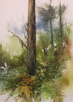 Forest Edge; Rob O'Dell; Watercolors
