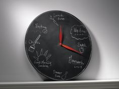 As a fun way to break up the day.   The 31 Most Useful Ways To Use Chalkboard Paint