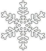Free printable snowflake templates to craft into easy paper snowflakes.