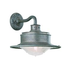 Troy Lighting Outdoor Wall Light with White Glass in Old Rust Finish | B9390OR | Destination Lighting
