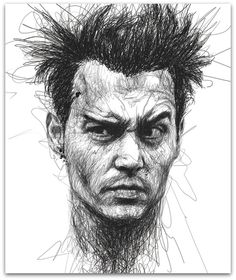Johnny Depp - without lifting thepencil from the paper
