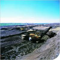 Fort McMurray, AB The Oil Sands open pit mining.