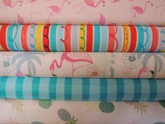 Flamingo Tropical Rag Quilt Kit,  Easy to Make, Personalized by beffie48 on Etsy