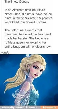 It wouldn't be Narnia, because the White Witch wasn't the real queen of Narnia. But this would be a much better movie, I think. I really wish they had made Elsa a villain; she could have been redeemed, too.