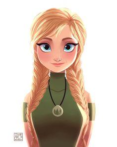 Anna (Modern Fashion by ArtOfArchibald @Facebook) #Frozen