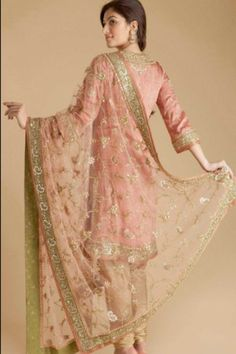 pink green malika Rk suit ritu kumar