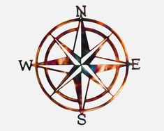 Excited to share this item from my shop: Compass Rose Nautical Metal Wall Art Outdoor Metal Wall Art, Metal Tree Wall Art, Scrap Metal Art, North Carolina Lighthouses, Compass Rose, Art Themes, Tree Art, Metal Walls, Metal Working